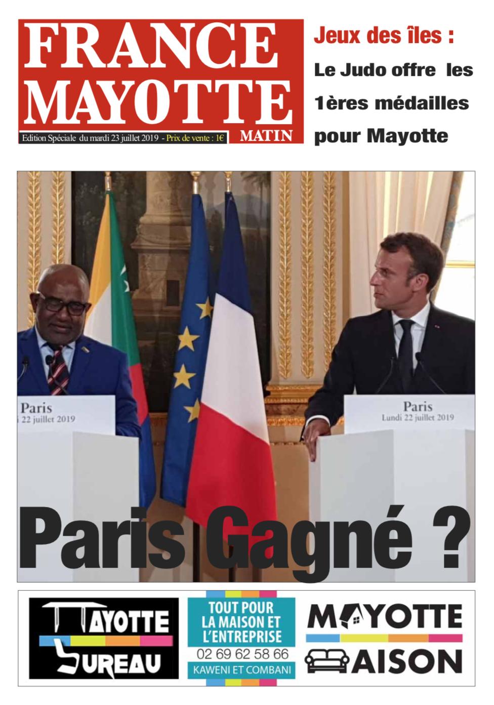 France Mayotte Mardi 23 juillet 2019