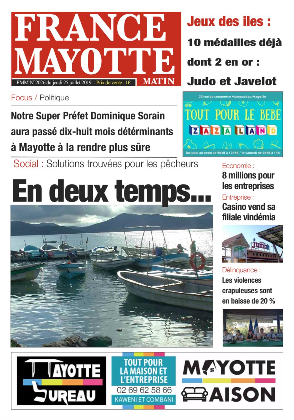 France Mayotte Jeudi 25 juillet 2019