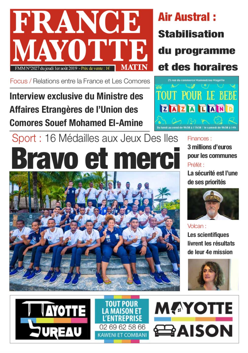 France Mayotte Jeudi 1er août 2019