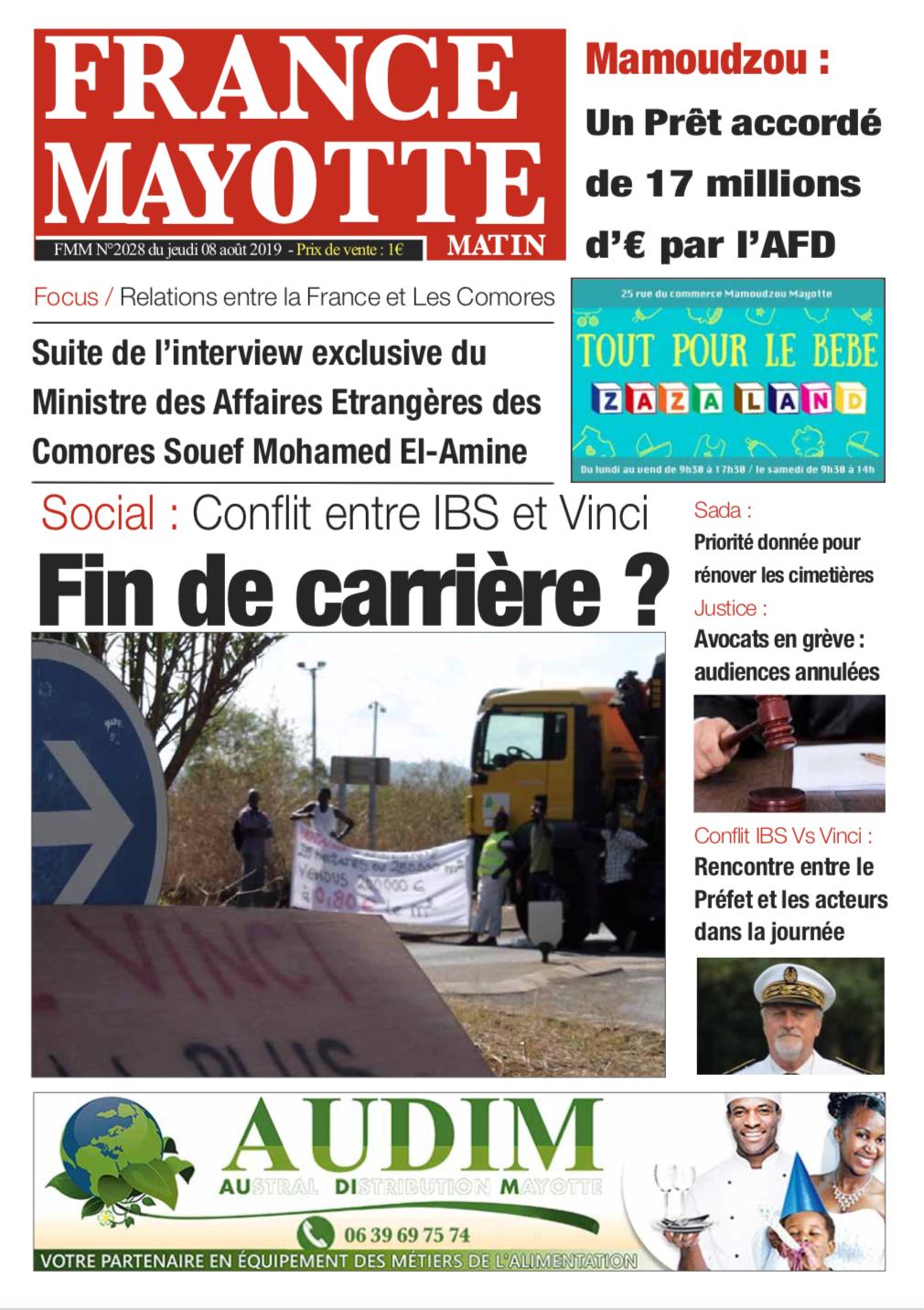 France Mayotte Jeudi 8 août 2019