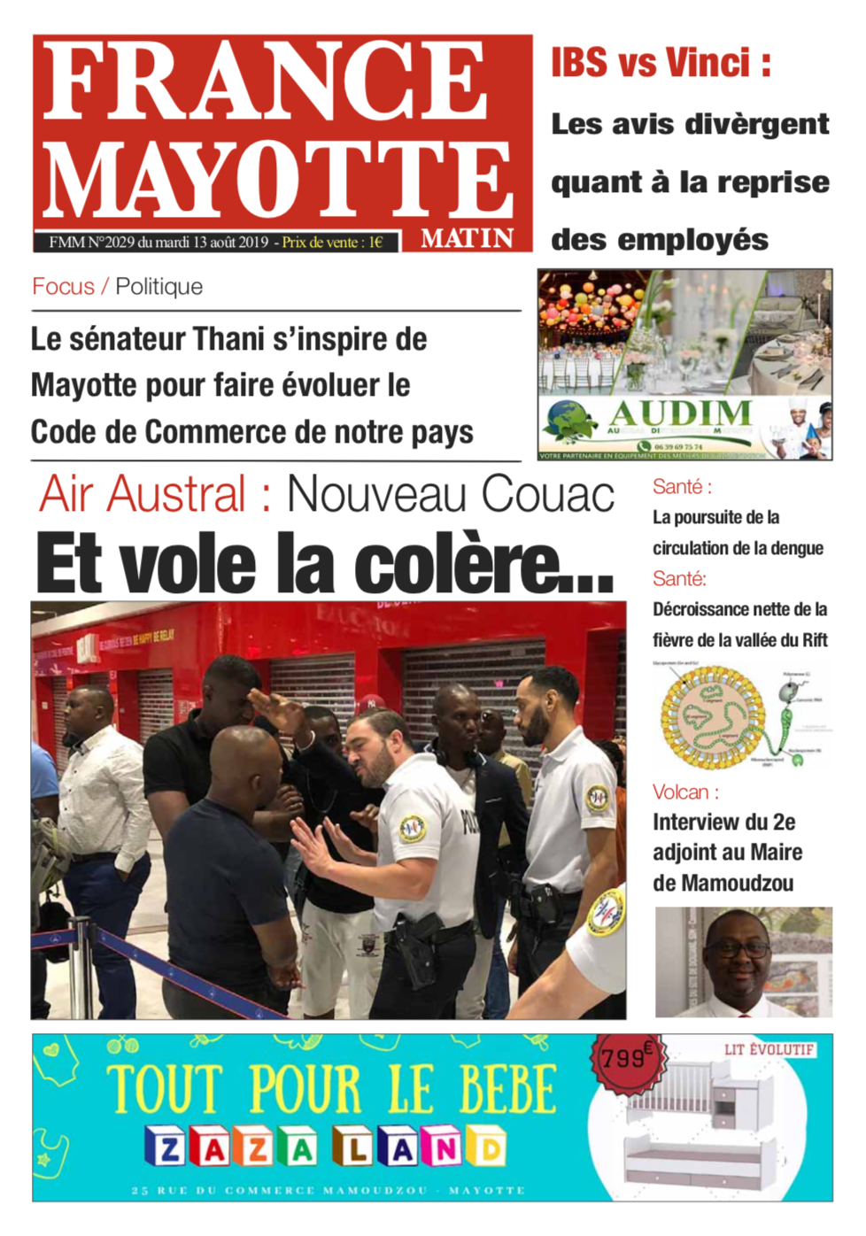 France Mayotte Mardi 13 août 2019