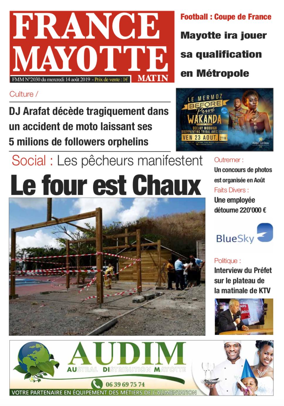 France Mayotte Mercredi 14 août 2019