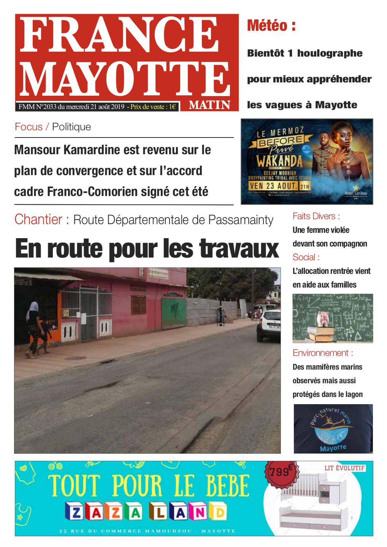 France Mayotte Mercredi 21 août 2019