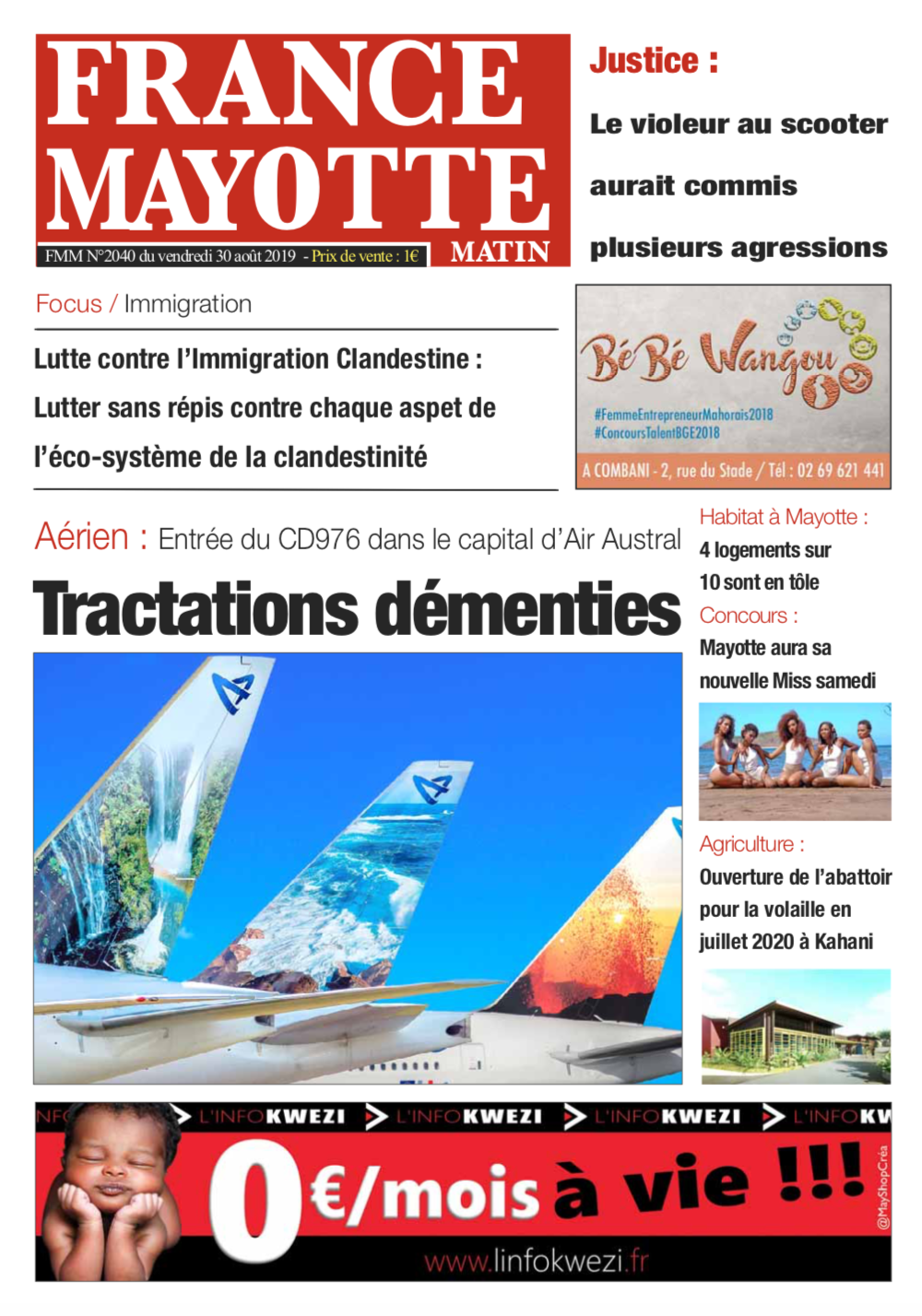 France Mayotte Vendredi 30 août 2019