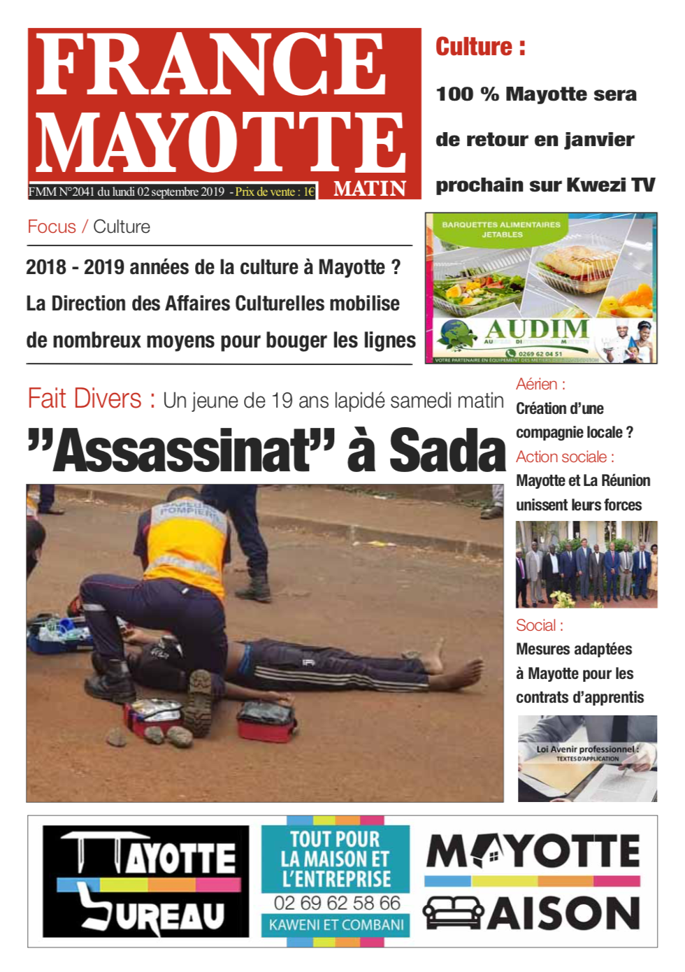 France Mayotte Lundi 2 septembre 2019