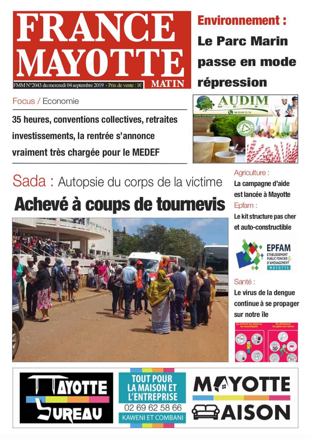 France Mayotte Mercredi 4 septembre 2019