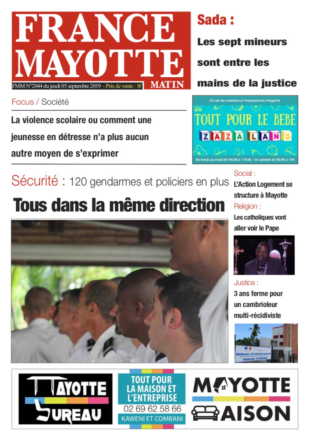 France Mayotte Jeudi 5 septembre 2019