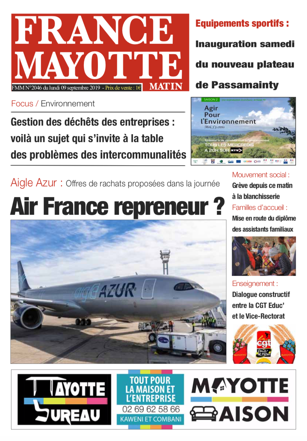 France Mayotte Lundi 9 septembre 2019