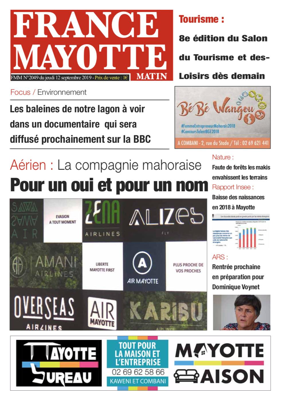 France Mayotte Jeudi 12 septembre 2019