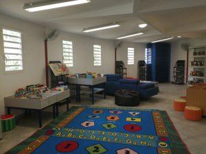 La salle de lecture de la MJC.