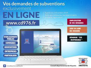 Le Conseil départemental annonce le lancement de son portail de demandes de subvention en ligne