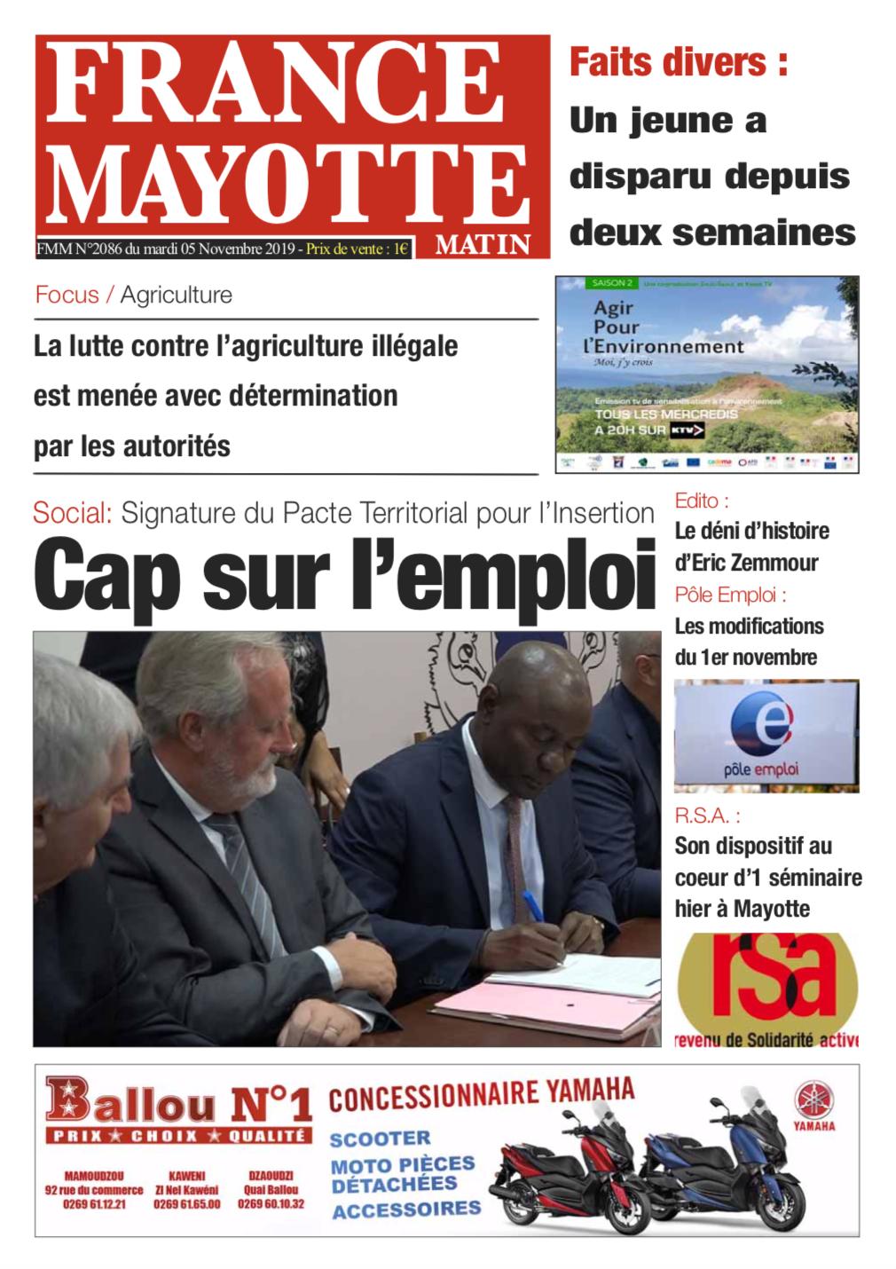 France Mayotte Mardi 5 novembre 2019