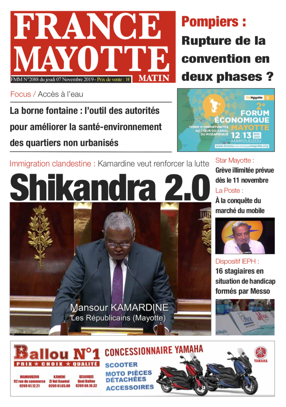 France Mayotte Jeudi 7 novembre 2019