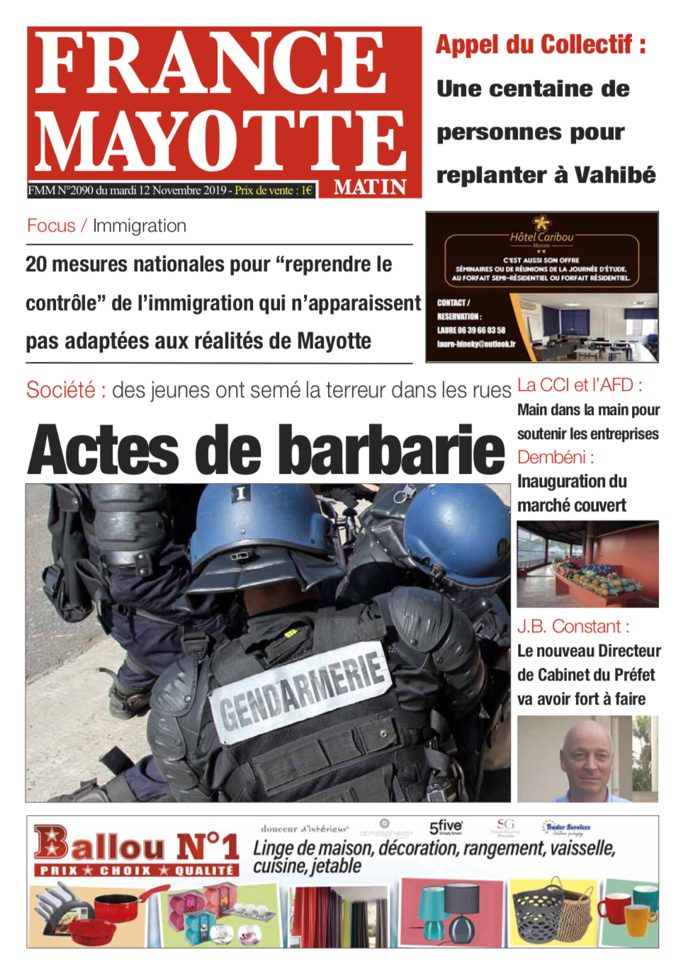 France Mayotte Mardi 12 novembre 2019