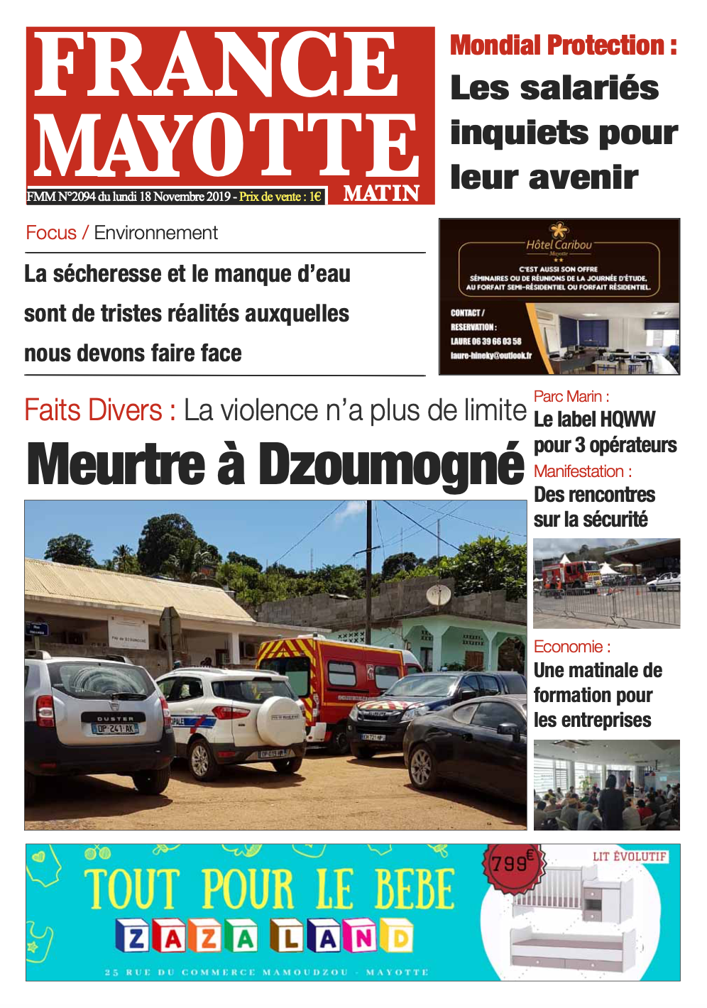 France Mayotte Lundi 18 novembre 2019