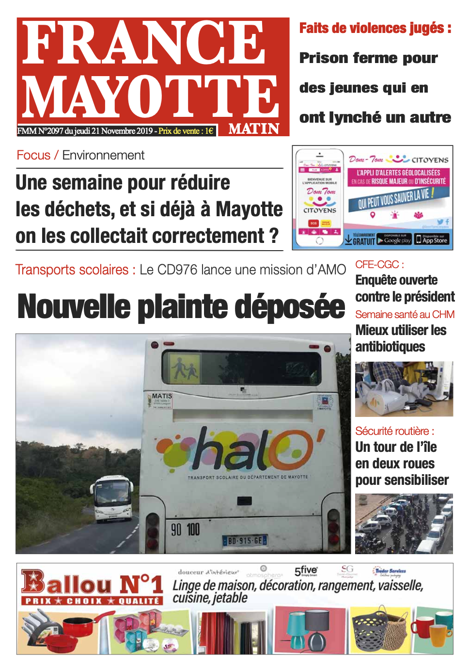 France Mayotte Jeudi 21 novembre 2019