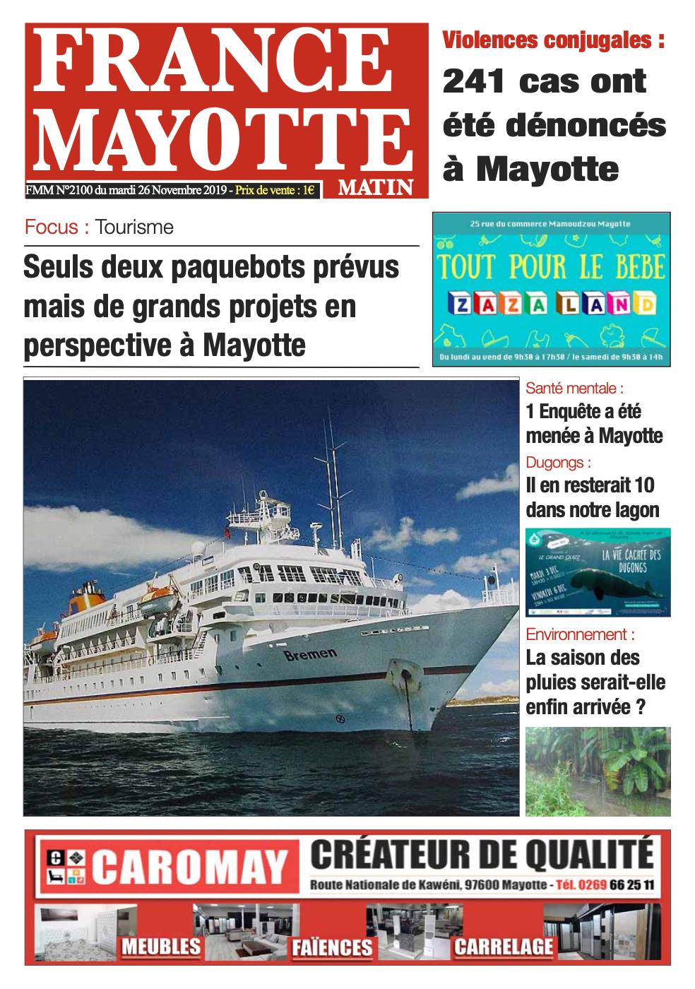 France Mayotte Mardi 26 novembre 2019