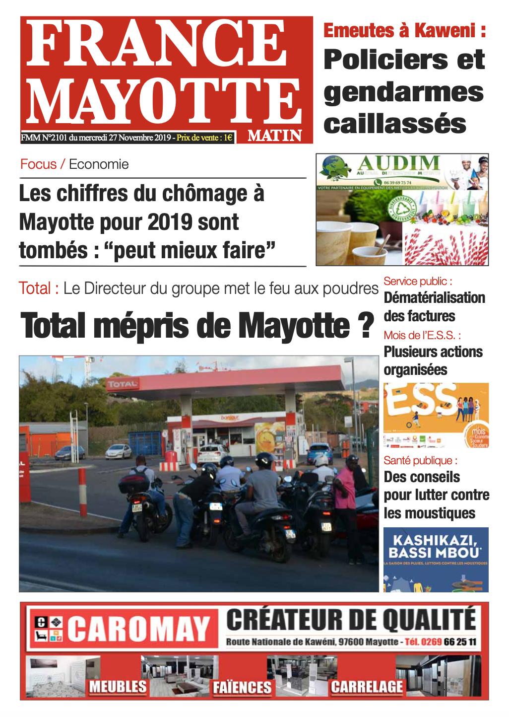 France Mayotte Mercredi 27 novembre 2019