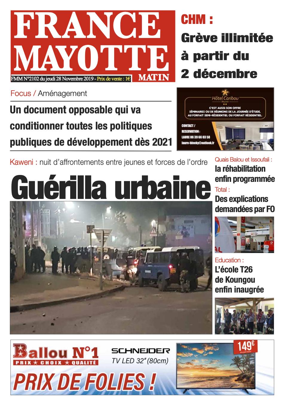 France Mayotte Jeudi 28 novembre 2019