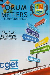 22 novembre : forum des métiers  à Sada