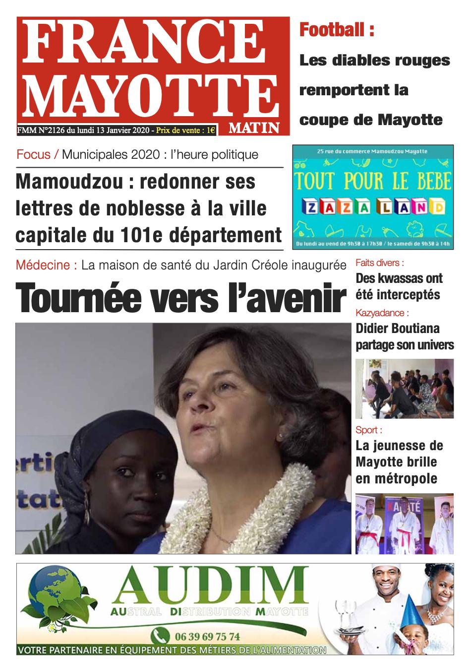 France Mayotte Lundi 13 janvier 2020