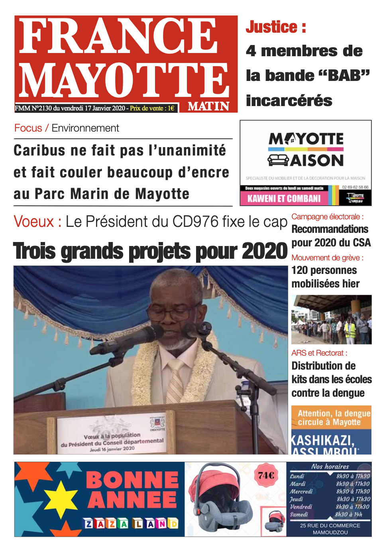 France Mayotte Vendredi 17 janvier 2020