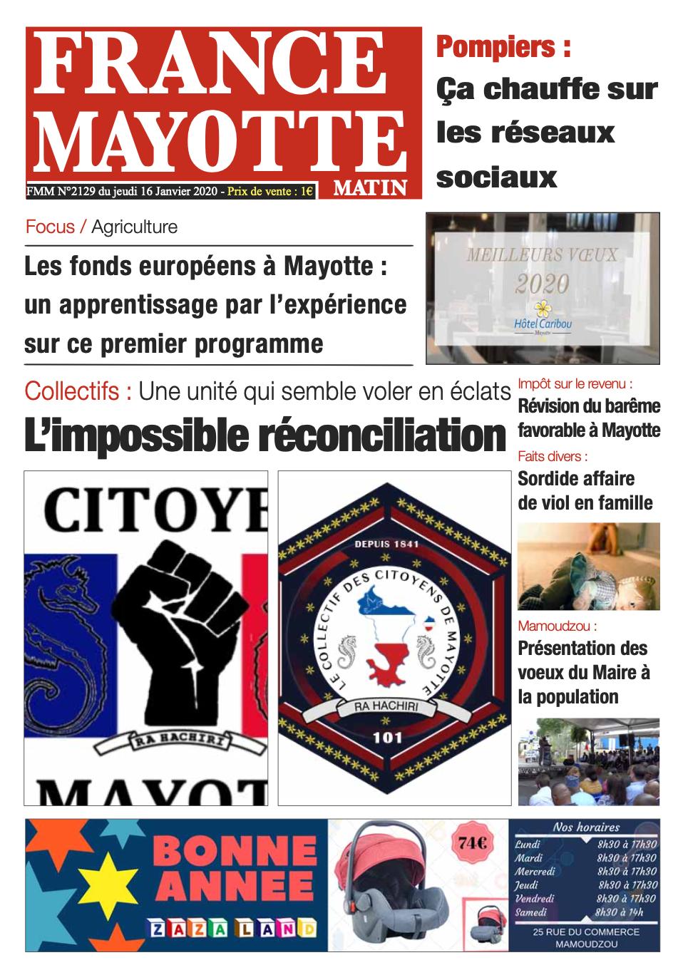 France Mayotte Jeudi 16 janvier 2020