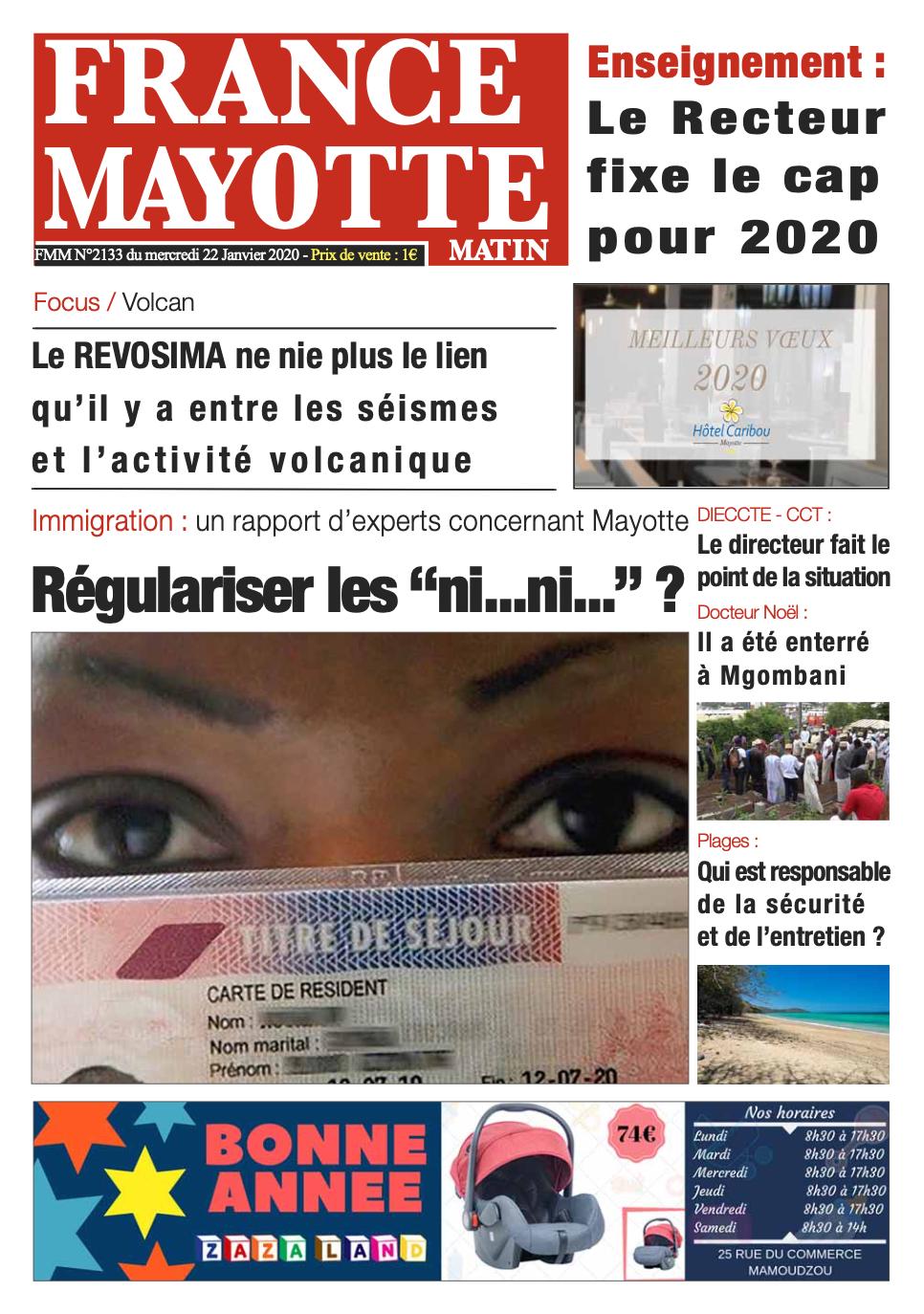 France Mayotte Mercredi 22 janvier 2020