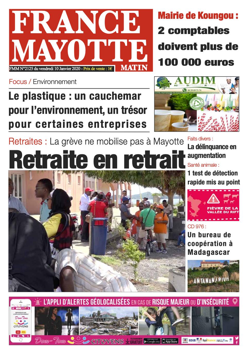 France Mayotte Vendredi 10 janvier 2020