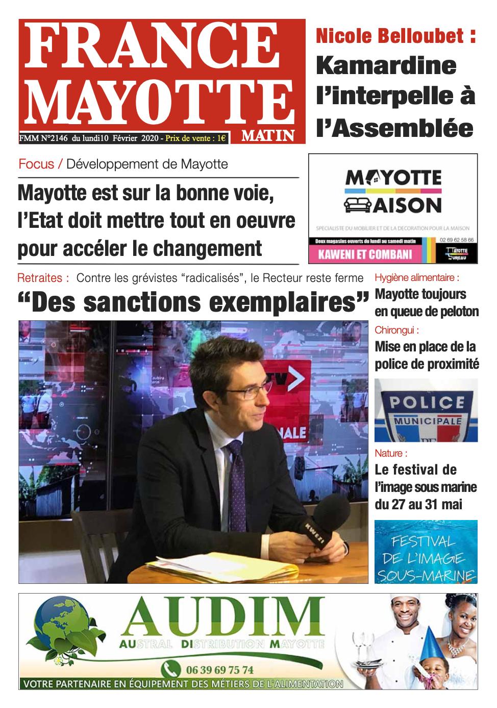 France Mayotte Lundi 10 février 2020