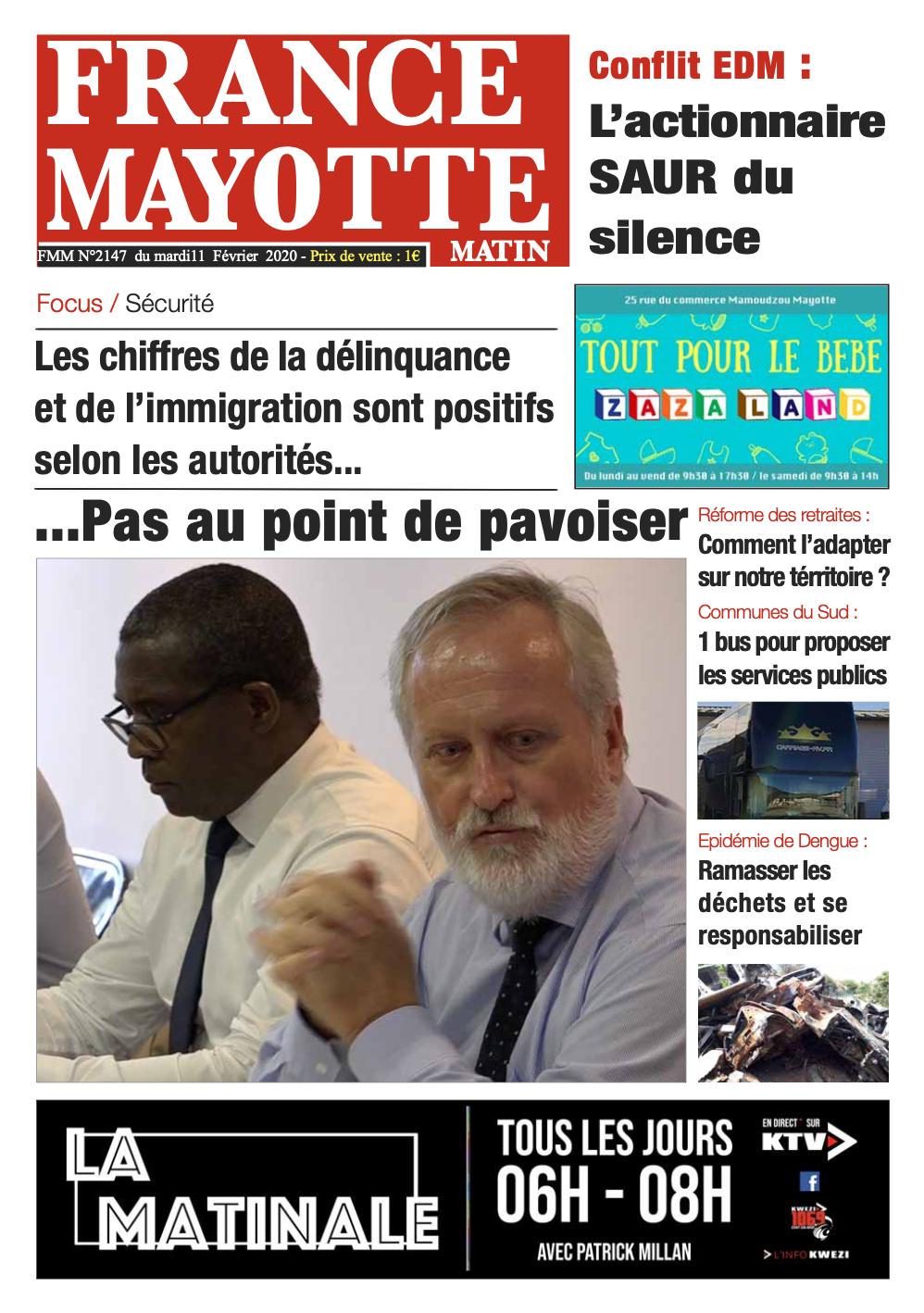 France Mayotte Mardi 11 février 2020