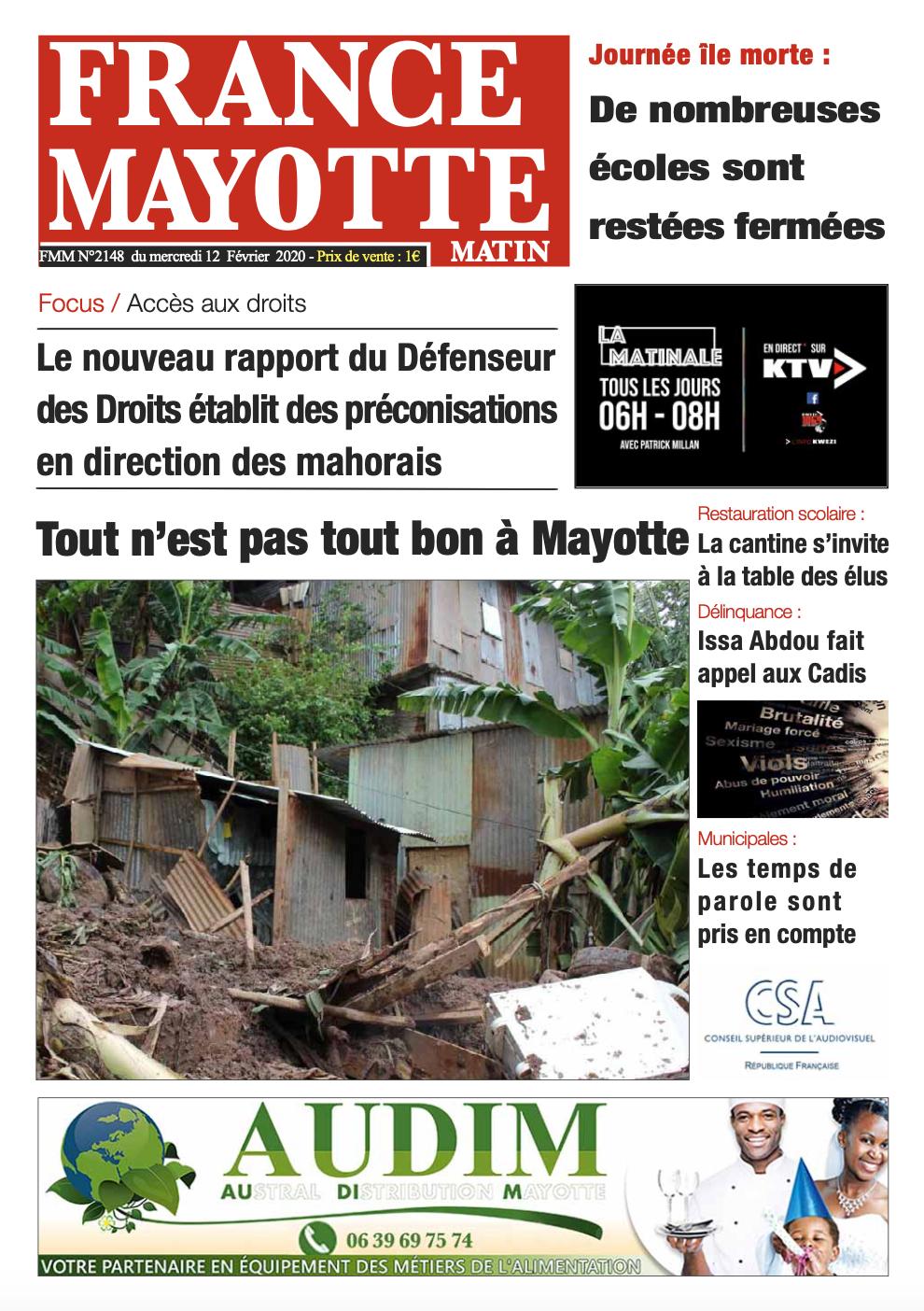 France Mayotte Mercredi 12 février 2020