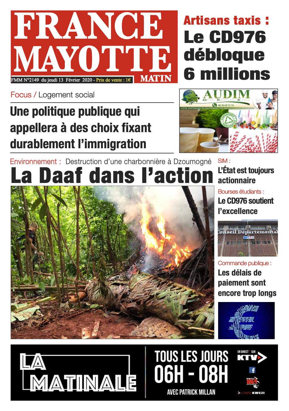 France Mayotte Jeudi 13 février 2020