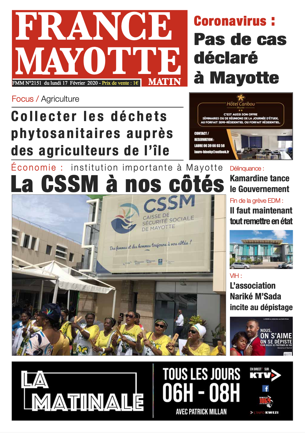France Mayotte Lundi 17 février 2020