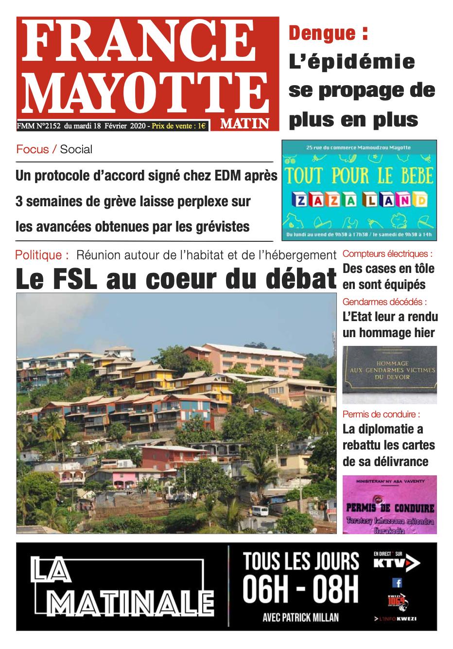 France Mayotte Mardi 18 février 2020