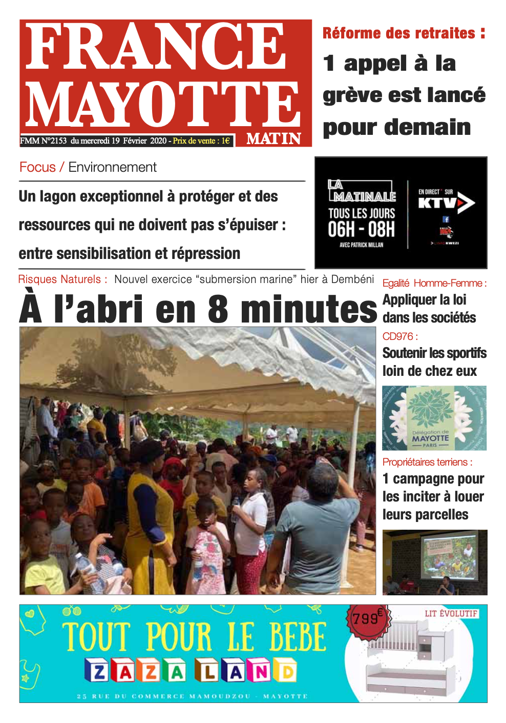 France Mayotte Mercredi 19 février 2020