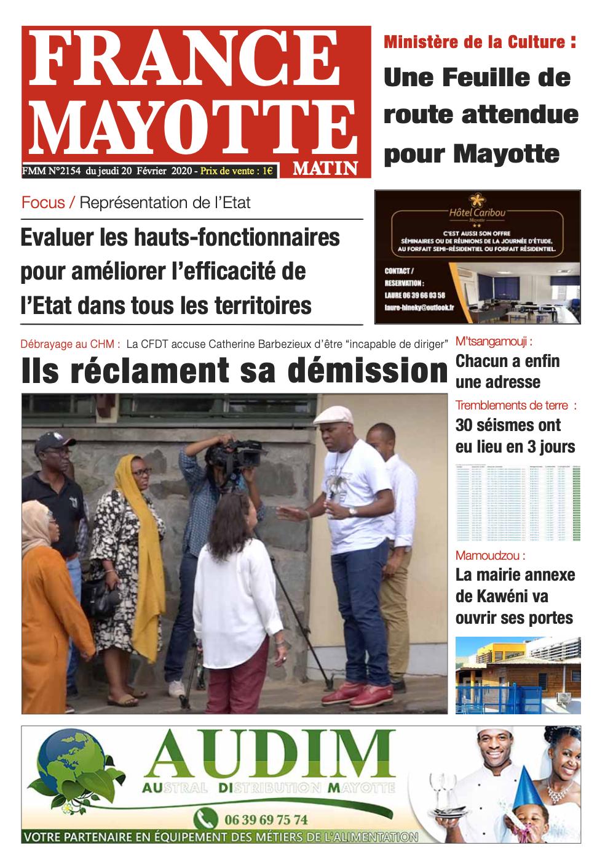 France Mayotte Jeudi 20 février 2020
