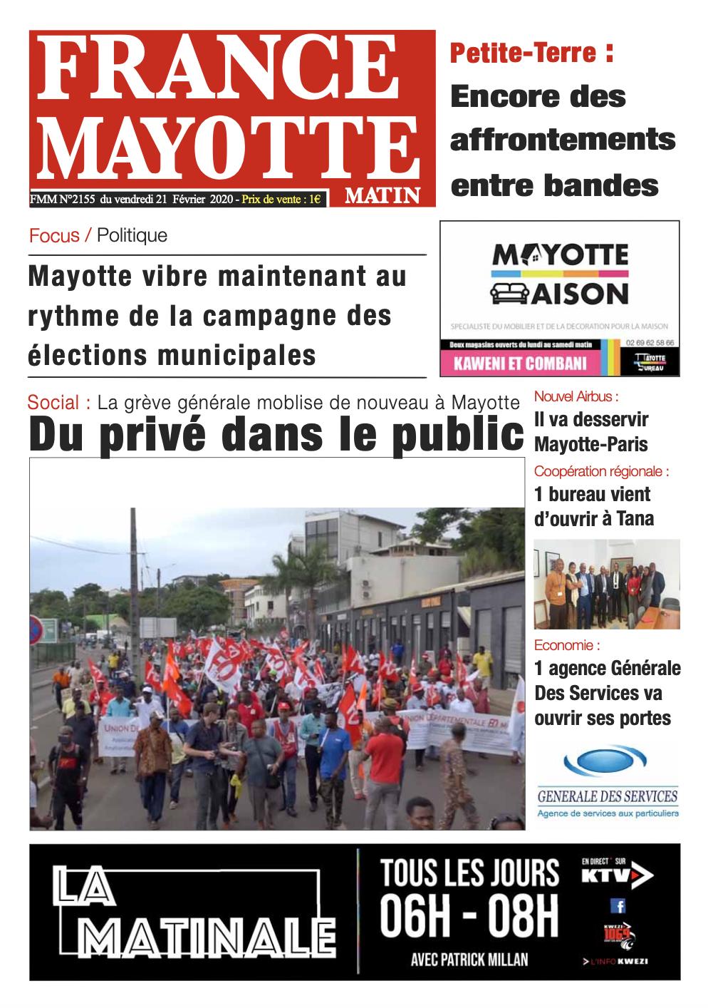 France Mayotte Vendredi 21 février 2020