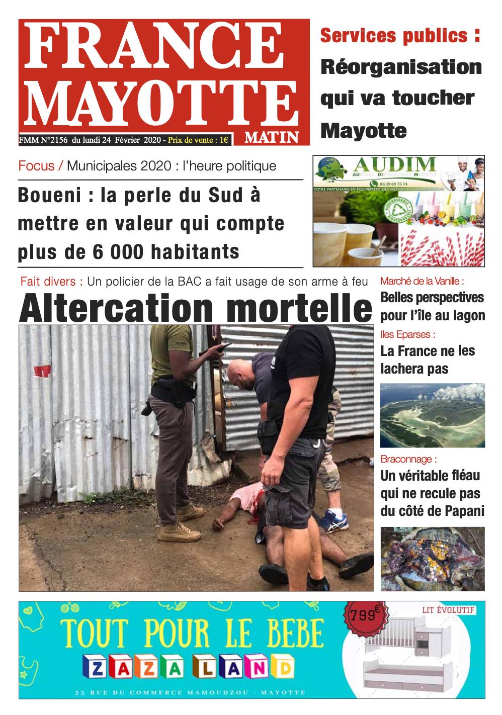 France Mayotte Lundi 24 février 2020