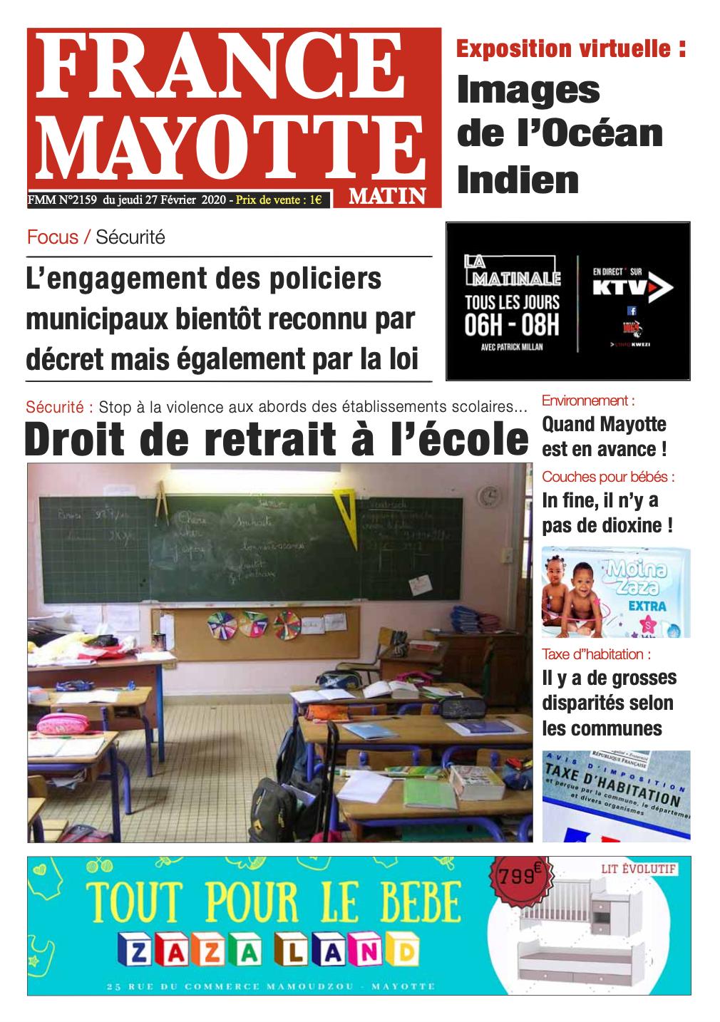 France Mayotte Jeudi 27 février 2020