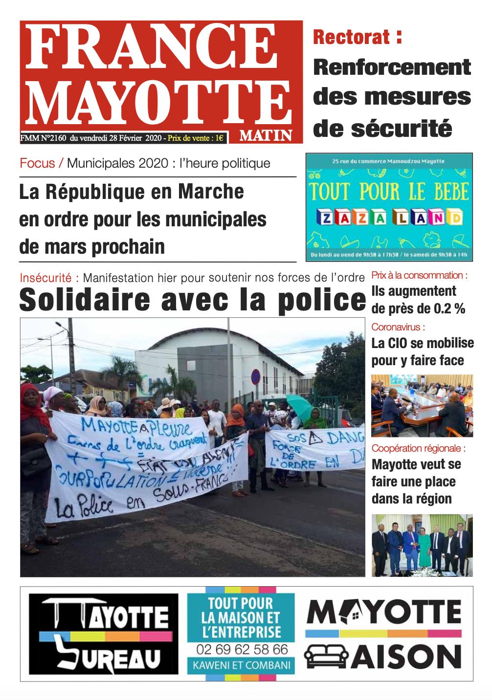 France Mayotte Vendredi 28 février 2020