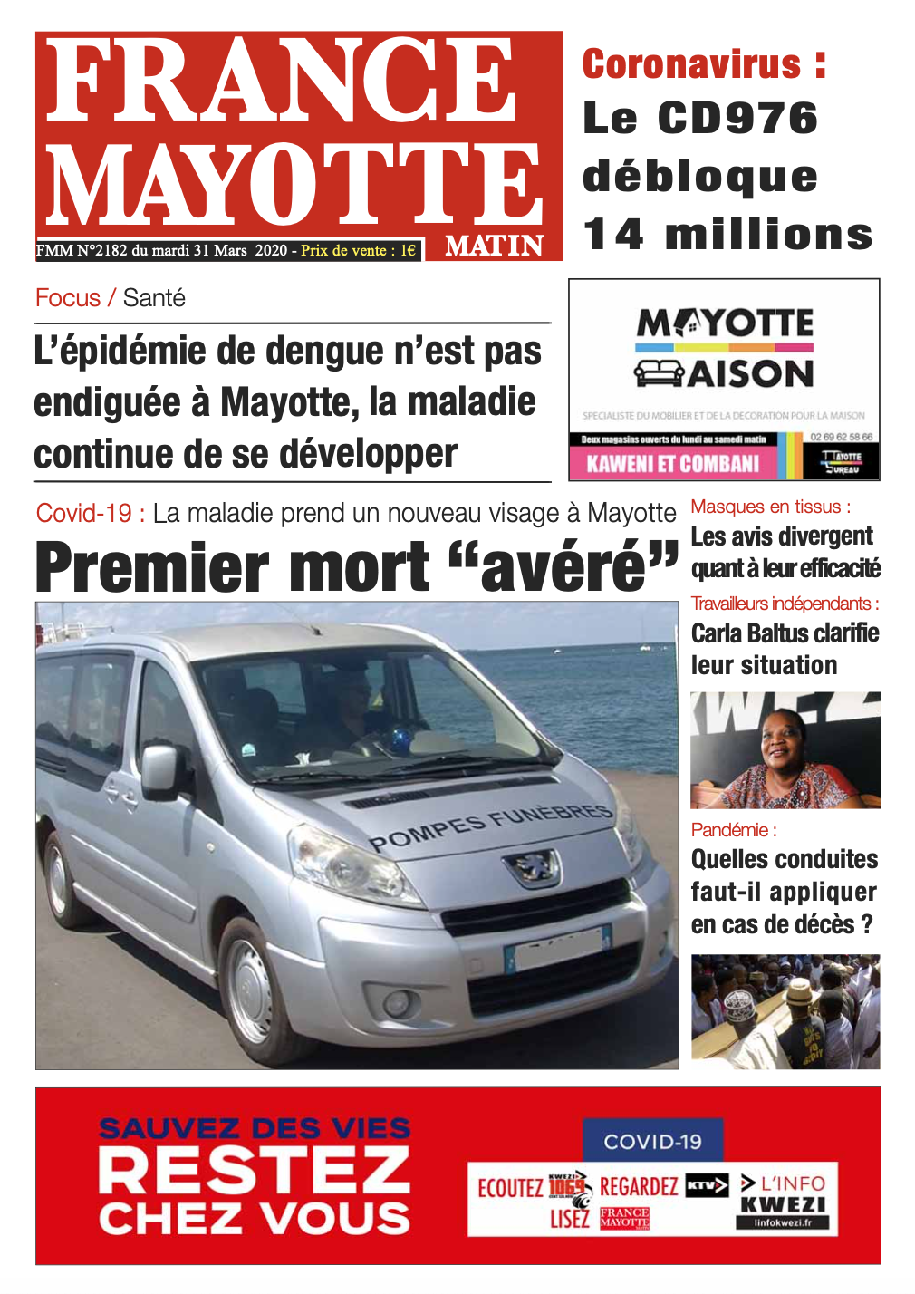 France Mayotte Mardi 31 mars 2020