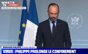 Edouard Philippe annonce la prolongation du confinement au 15 avril (video)