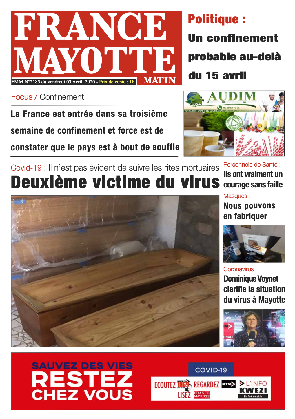 France Mayotte Vendredi 3 avril 2020