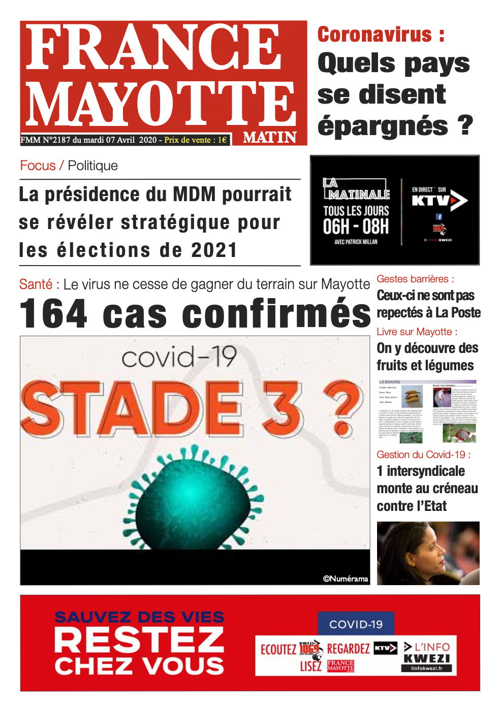 France Mayotte Mardi 7 avril 2020