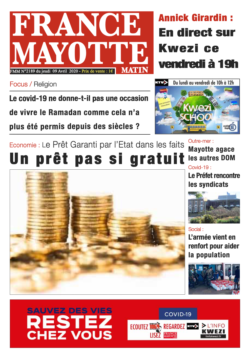 France Mayotte Jeudi 9 avril 2020