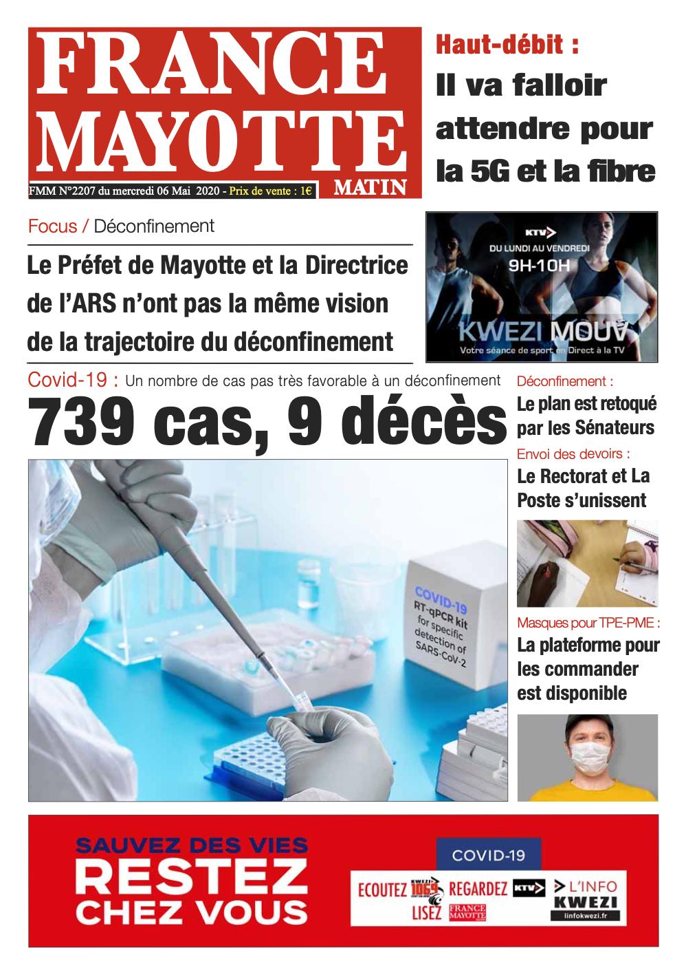 France Mayotte Mercredi 6 mai 2020