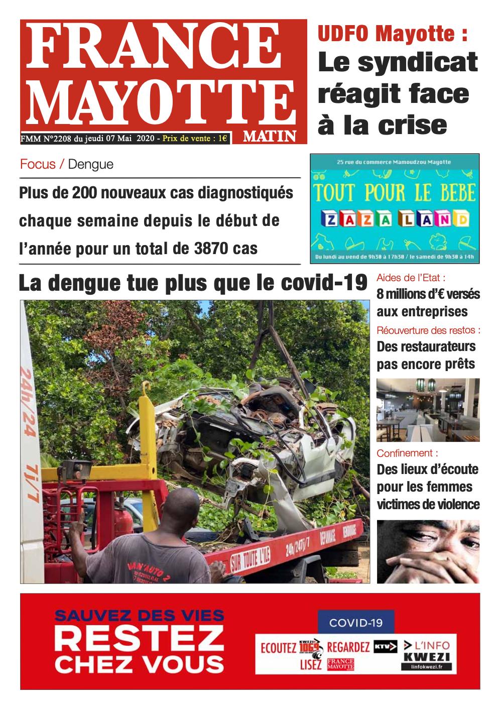 France Mayotte Jeudi 7 mai 2020