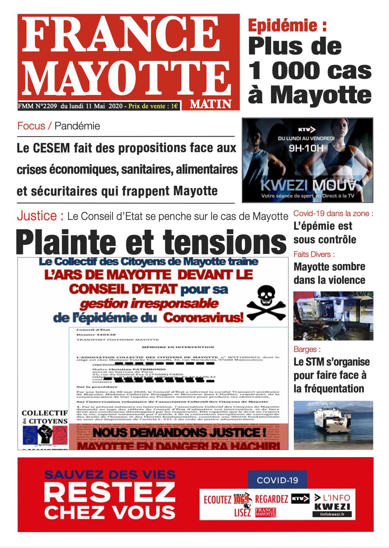 France Mayotte Lundi 11 mai 2020