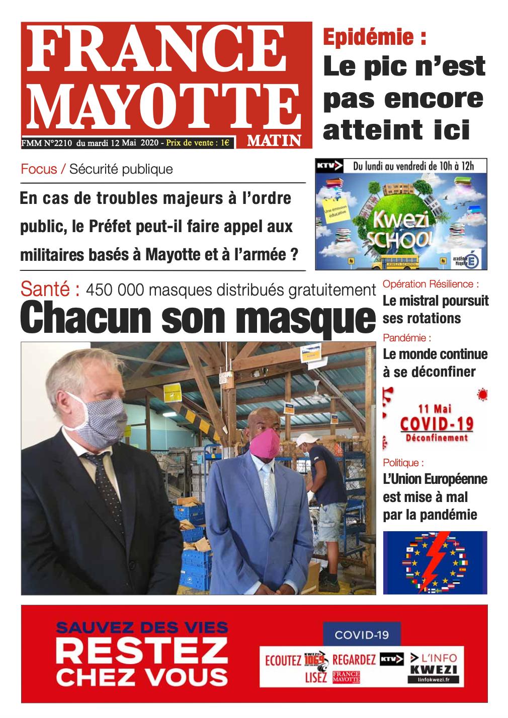 France Mayotte Mardi 12 mai 2020